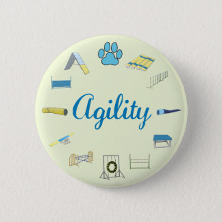 Agility Obstacles Pinback Button