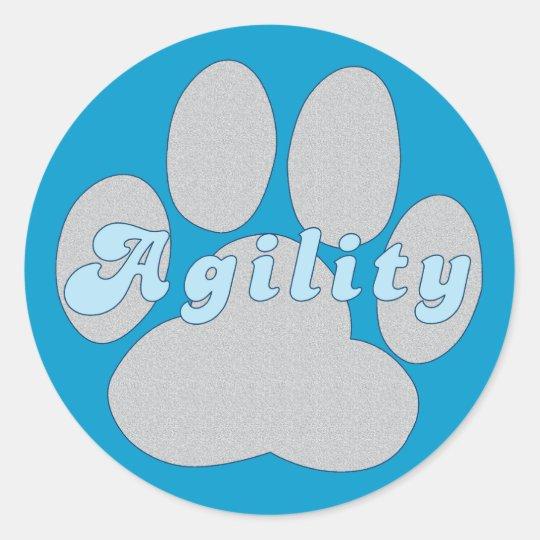 Agility Paw Classic Round Sticker