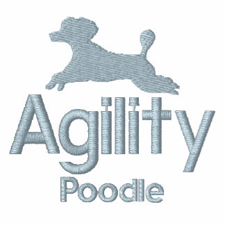 Agility Poodle Embroidered Long Sleeve Shirt