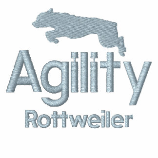 Agility Rottweiler Embroidered Sweatshirt