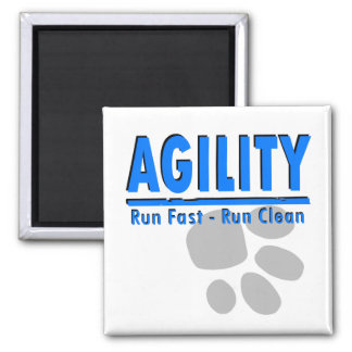 Agility Run Fast - Run Clean Magnet