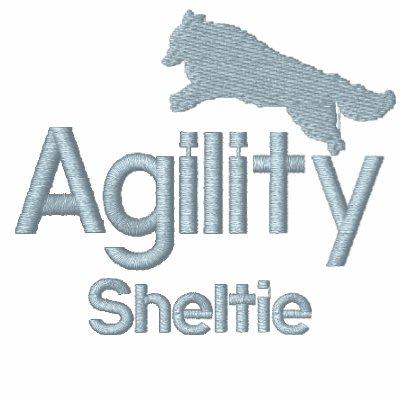 Agility Sheltie Embroidered Sweatshirt