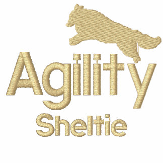 Agility Sheltie Embroidered T-Shirt