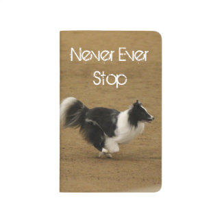 "Agility Sheltie ""Never Ever Stop"" Journal"