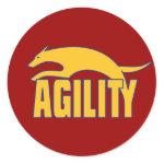 Agility Stylized Design Sticker