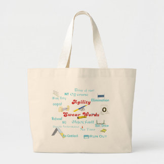 Agility Swear Words Large Tote Bag
