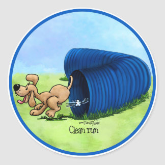 Agility Tunnel - Clean Run Classic Round Sticker