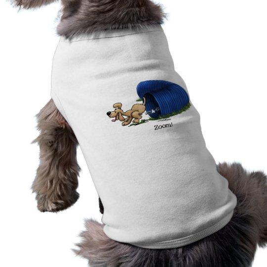Agility Tunnel doggie tee shirt