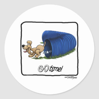 Agility Tunnel - Go Time Classic Round Sticker