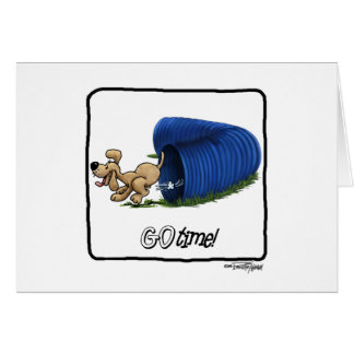 Agility Tunnel - Go Time Greeting Card