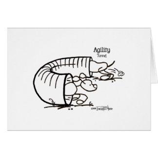 Agility Tunnel - Stick Dog Card