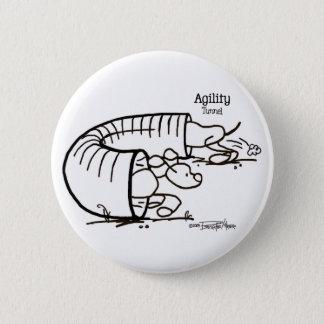 Agility Tunnel - Stick Dog Pinback Button
