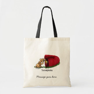 Agility Tunnel - Tunnelphobia Budget Tote Bag