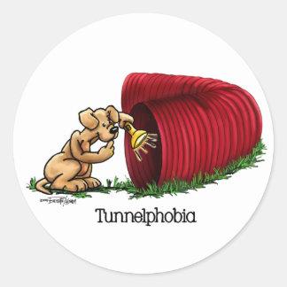 Agility Tunnel - Tunnelphobia Classic Round Sticker