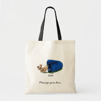 Agility Tunnel - Zoom Budget Tote Bag