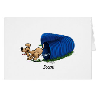 Agility Tunnel - Zoom Greeting Card