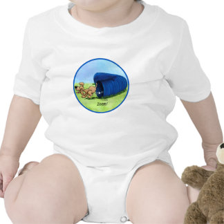 Agility Tunnel zooms baby T Shirts