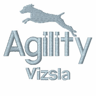 Agility Vizsla Embroidered Long Sleeved Shirt