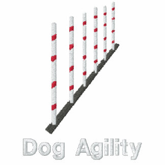Agility Weave Poles Embroidered Shirt (T-Shirt)