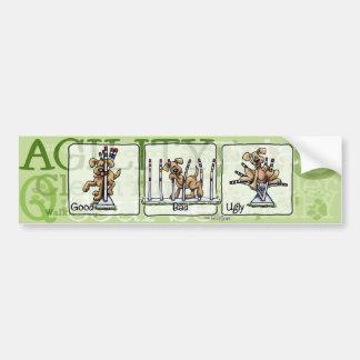 Agility Weave poles GBU bumper sticker
