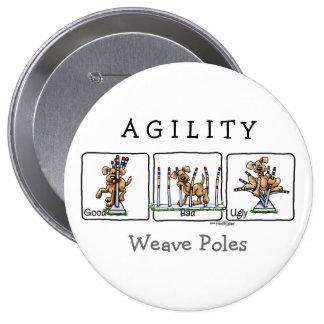 Agility Weave poles GBU button