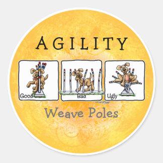 Agility Weave poles GBU stickers