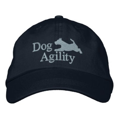 Agility Welsh Terrier Embroidered Hat (Blue)