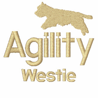 Agility Westie Embroidered T-Shirt
