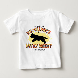 Agility Westie Secret Baby T-Shirt