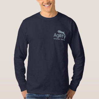 Agility Wheaten Terrier Embroidered Long Sleeve Embroidered Long Sleeve T-Shirt