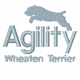 Agility Wheaten Terrier Embroidered Long Sleeve