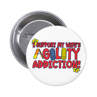 Agility Wife Pinback Button
