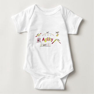 Agility with writing baby bodysuit