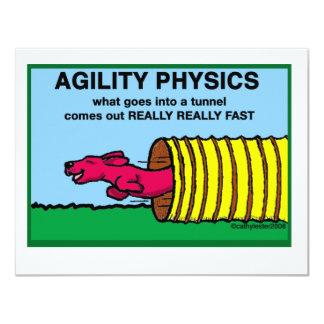 """AgilityPhysics Invitación 4.25"""" X 5.5"""""""
