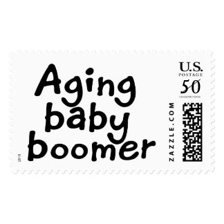 Aging baby boomer postage