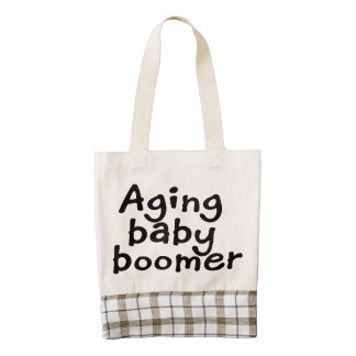 Aging baby boomer zazzle HEART tote bag