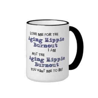 Aging Hippie Burnout Large Funny Mug