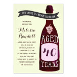 Aging Like Fine Wine   Birthday Party 5x7 Paper Invitation Card