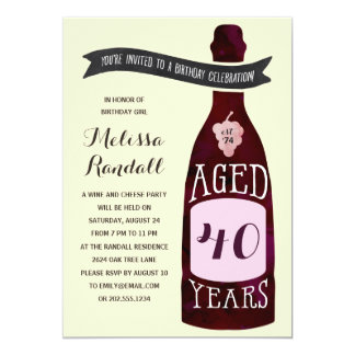 Aging Like Fine Wine | Birthday Party Card