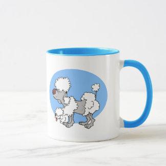Aging Poodle Cartoon Ceramic Mug
