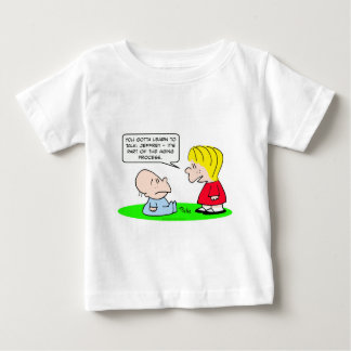 aging process learn talk baby infant t-shirt