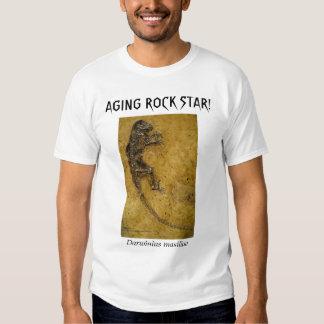 AGING ROCK STAR! T SHIRT