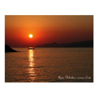 Agios Nikolaos sunrise, Crete Postcard