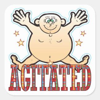 Agitated Fat Man Be Square Sticker