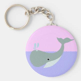 agite la ballena llavero personalizado