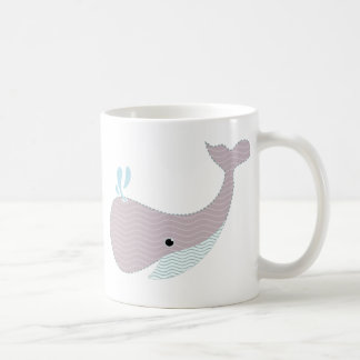 agite la ballena taza básica blanca