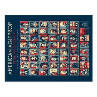 Agitprop americano en la edad de Obama - postal