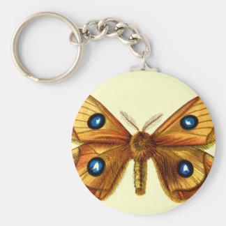 Aglia Tau Butterfly Basic Round Button Keychain