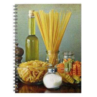 aglio olio e peperoncino garlic oil and chili notebooks
