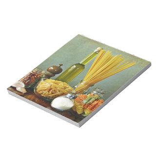 aglio, olio e peperoncino (garlic, oil and chili) notepad